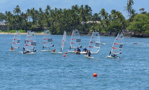 Windsurfers recreate in the sanctaury